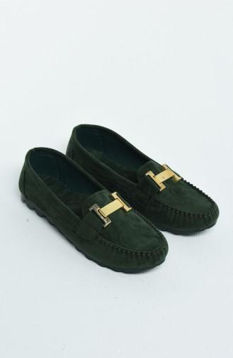 حذاء مسطح أخضر حشيشي 2031-07