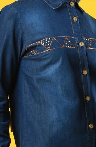 قميص أزرق كحلي 3015-02