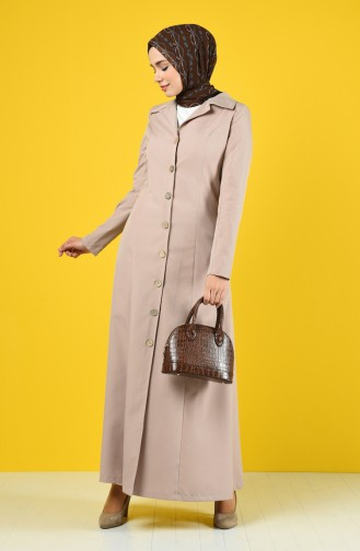 Buttoned Topcoat with Pockets 3169-03 Mink 3169-03