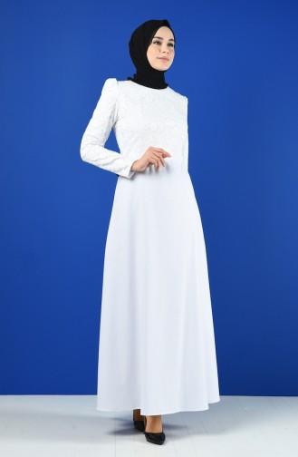 White İslamitische Jurk 3164-02