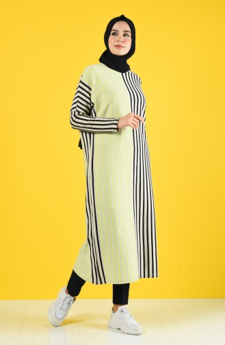 Striped Long Tunic 8017-01 Mink 8017-01