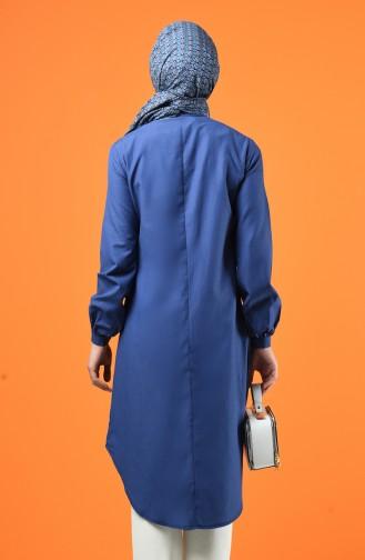 Buttoned Tunic 3165-12 Indigo 3165-12