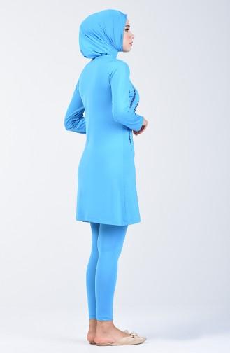 Damen Hijab Badeanzug 28001 Türkis 28001
