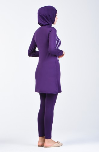 Purple Swimsuit Hijab 28004
