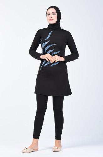 Maillot de Bain Hijab Noir 28005