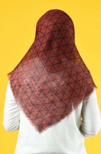Elmina Patterned Cotton Scarf 883-03 Tile 883-03