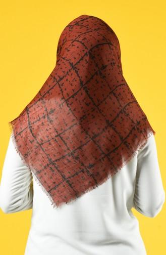 Elmina Patterned Cotton Scarf 886-01 Tile 886-01