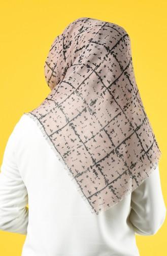 Elmina Patterned Cotton Scarf 886-04 Mink 886-04