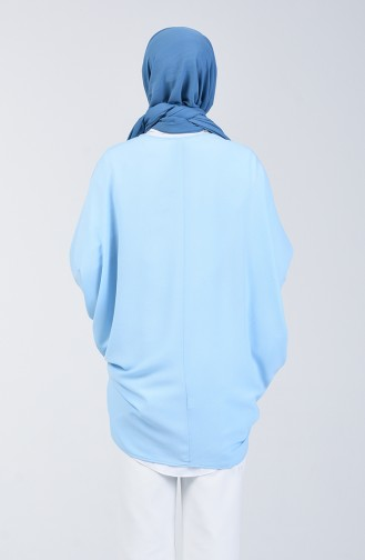 Payet Detaylı Hırka 11465-07 Bebe Mavisi