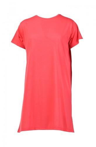 Basic Long T-shirt 8131-07 Vermilion 8131-07