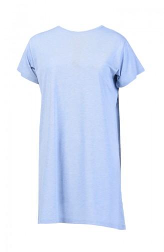 Basic Uzun Tshirt 8131-11 Buz Mavisi