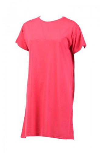 Basic Uzun Tshirt 8131-12 Pembe