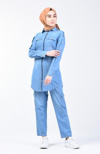 طقم أزرق جينز 3009-02