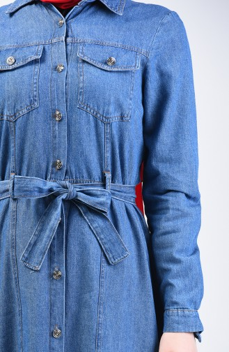 Robe Jean Boutonnée 5304-01 Bleu Jean 5304-01