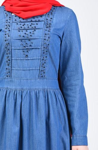 Robe Jean Perlées 9282-02 Bleu Jean 9282-02