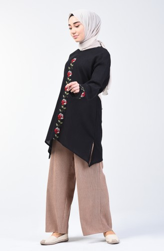 Sile Cloth Embroidered Tunic 0038-01 Black 0038-01