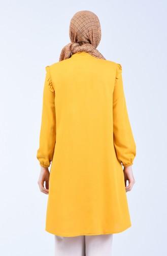 Frilly Viscose Tunic 0005-05 Mustard 0005-05