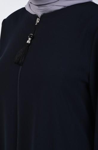 Püsküllü Abiye Ferace 2022-02 Lacivert