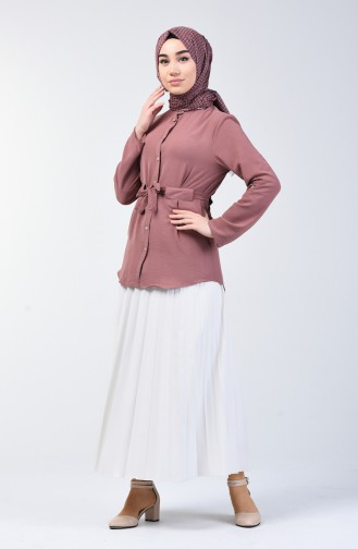 Aeroben Fabric Belted Shirt 1425-04 Rose Dry 1425-04