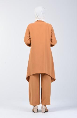 Ensemble Deux Pieces Tunique Pantalon Tissu Aerobin 6329-11 Moutarde 6329-11
