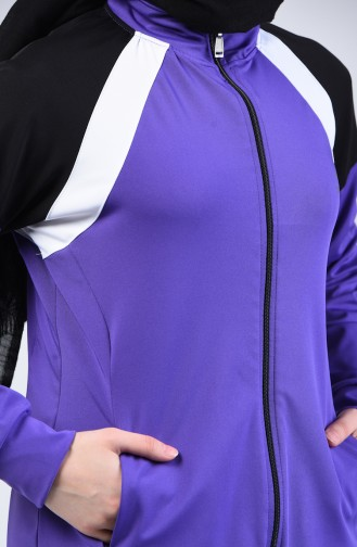 Zippered Tracksuit Lilac 95210-08