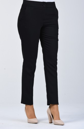 Classic Trousers with Pockets 1117-01 Black 1117-01