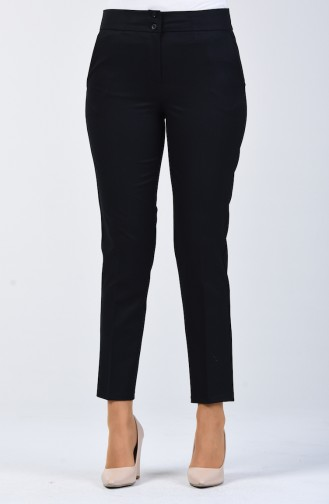 Classic Trousers with Pocket 1117-02 Navy Blue 1117-02