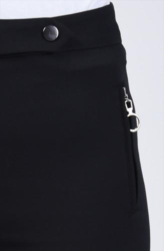 Tasche Detaillierte Schlaghose 3161-01 Schwarz 3161-01