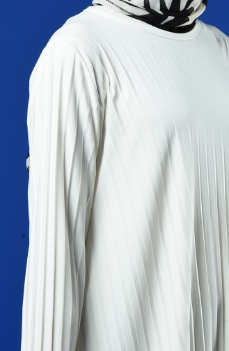 Pleated Tunic Trousers Double Suit 5219-15 White 5219-15