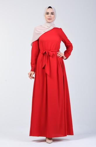 Belted Dress 60108-03 Claret Red 60108-03