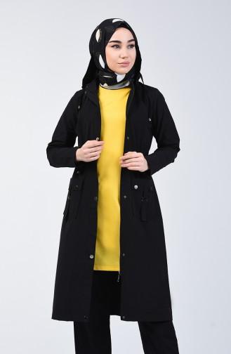 Black Trench Coats Models 6095-05