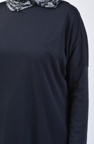 Bat Sleeve Sandy Tunic 8023-02 Anthracite 8023-02