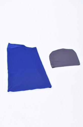 Saxon blue Swimsuit Hijab 28012