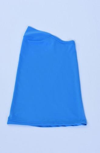 Büyük Beden Bayan Tesettür Mayo 28015 Mavi