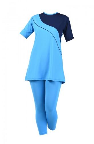 Blue Swimsuit Hijab 28019