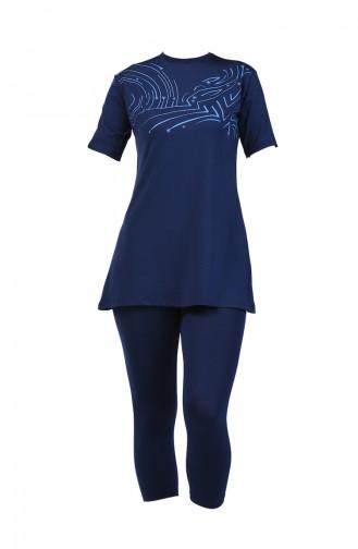 Navy Blue Swimsuit Hijab 28024