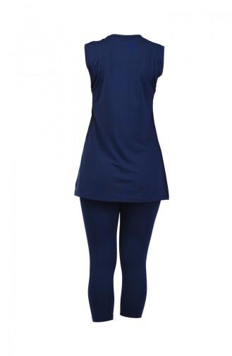 Women s Sleeveless Pool Swimsuit 28036 Navy Blue 28036