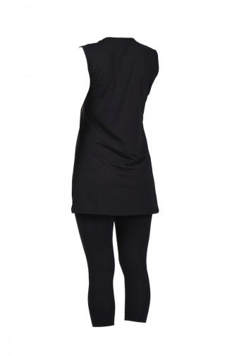 Maillot de Bain Sans Manches Pour Femme 28037 Noir 28037