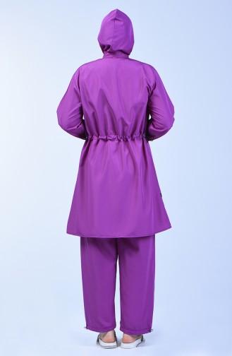 Plus Size Women Islamic Swimsuit 28041 Lilac 28041