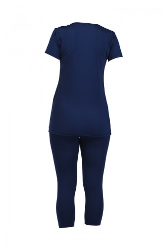 Women s Short Sleeve Pool Swimsuit 28045 Navy Blue 28045
