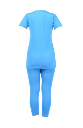 Damen Kurzarm Pool Badebekleidung 28048 Blau 28048
