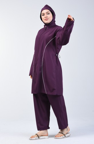 Purple Swimsuit Hijab 28052