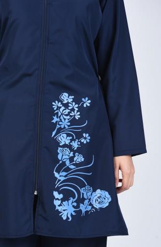 Maillot de Bain Hijab Pour Femme 28058 Bleu Marine 28058