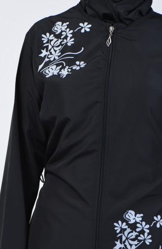 Black Swimsuit Hijab 28059