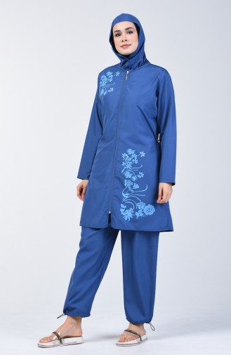 Blue Swimsuit Hijab 28060