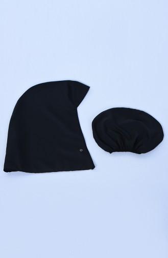 Black Swimsuit Hijab 28063