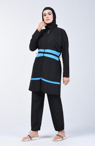 Black Swimsuit Hijab 28075