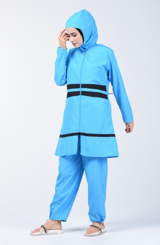 Blue Swimsuit Hijab 28078