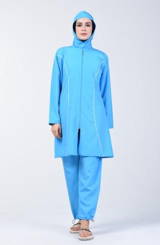 Blue Swimsuit Hijab 28095