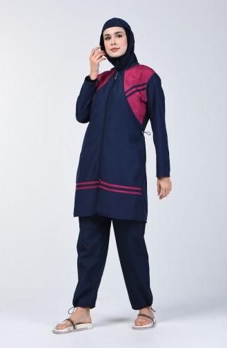 Navy Blue Swimsuit Hijab 28117